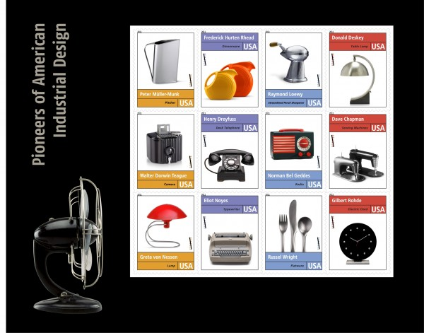 Pioneers of Industrial Design Stamps