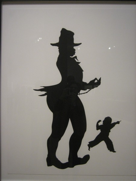 "Kara Walker, ""The Emancipation Approximation,"" screenprints, 1999-2000.  One of 26 prints in the grand cycle."