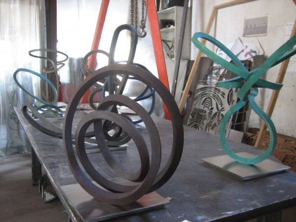 Roger Berry, Silicon Bronze sculpture,  ready to be sent to Stremmel Gallery, Reno, NV, 2014.
