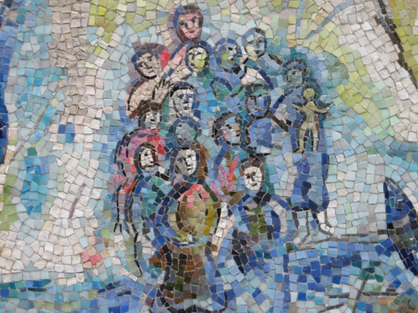 Marc Chagall, Orphee: detail, stone and glass mosaic.