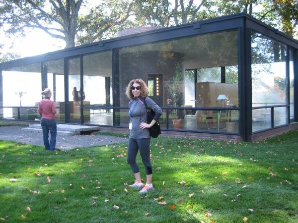 Visiting Philip Johnson's Spectacular Glass House, New Canaan, CT in Oct., 2014