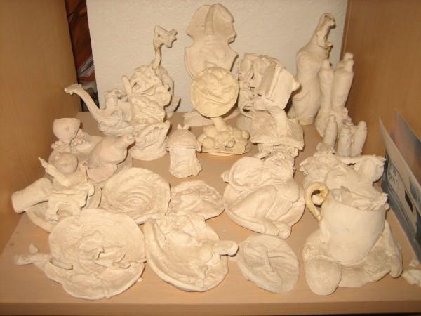 Linda Fitz Gibbon, recent maquettes, clay.