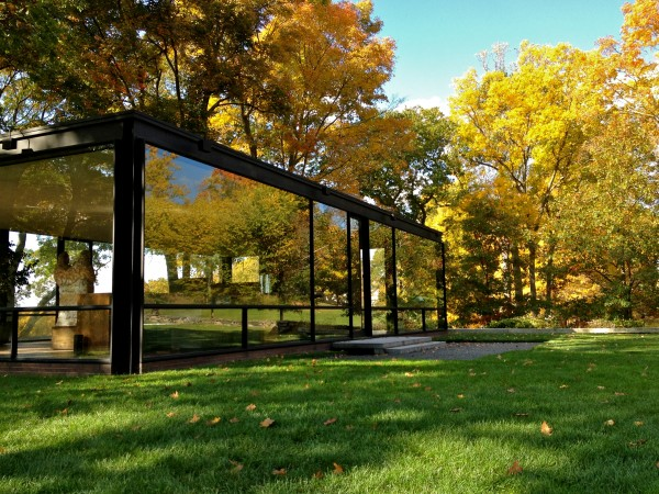 Philip Johnson's Glass House, New Canaan, CT, on a Glorious Fall Afternoon.