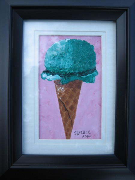 A Single Scoop, Sharon Gerber, Acrylic