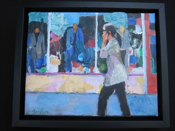 Street Conversation, Bud Gordon, Acrylic.
