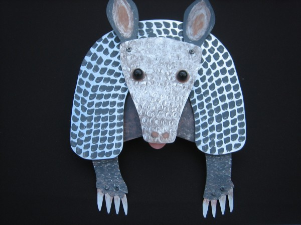 Anxious Armadillo, Taylor Gutermute, Paint on Metal