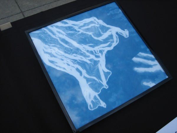 Hand-Kerchief, Mary Swisher, Cyanotype.